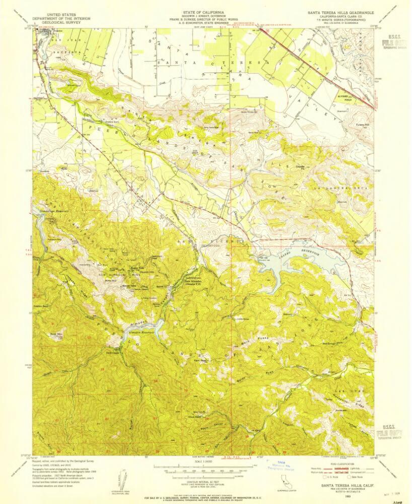 Santa Teresa California Map.Santa Teresa Hills