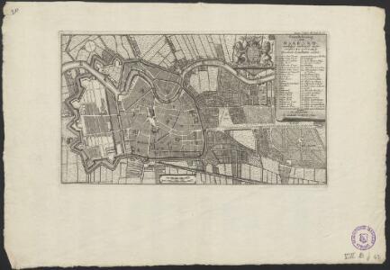 Grondtekening van Haarlem