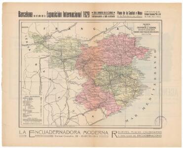 Mapa de la provincia de Gerona