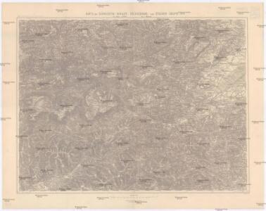 Karte der Schneeberg - Raxalpe - Hochschwab - und Ötscher-Gruppe