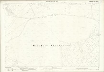 Hampshire and Isle of Wight LXXVIII.2 (includes: Hurn; Ringwood; St Leonards and St Ives) - 25 Inch Map