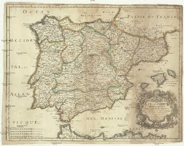 L'Espagne subdivisée en tous ses royau.mes, princip.tés, seign.ries, & exactem. reveüe, corigée, et augmentée dessus ce qui en a esté veu jusques a present