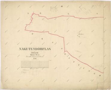 Katastrální mapa obce Nahý Újezdec