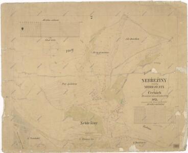 Katastrální mapa obce Nebřeziny
