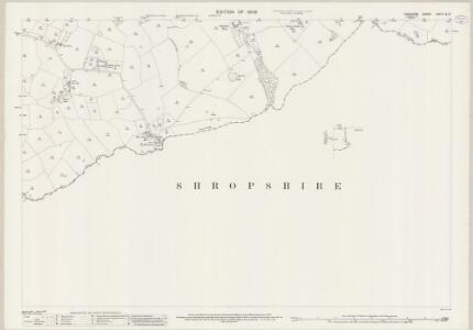 Cheshire LXVI.11 & LXVI.12 (includes: Buerton; Mucklestone; Norton in Hales; Woore) - 25 Inch Map