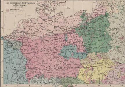 Das Sprachgebiet der Deutschen in Mitteleuropa