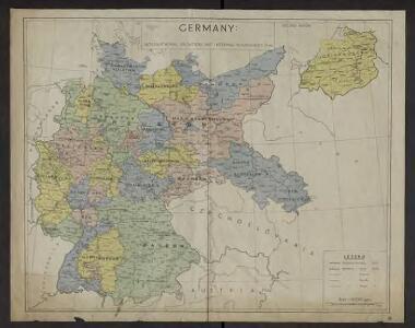 Germany : International frontiers 1937 : internal boundaries 1944