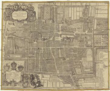 Nieuwe platte grond van's Gravenhage met de publicque gebouwen opgedraagen aan de edele achtbare heere burgermeesters en regeerders der Selve stede