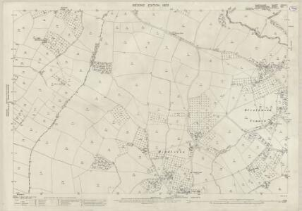 Shropshire LXXXIII.1 (includes: Ashford Carbonel; Greete; Little Hereford) - 25 Inch Map