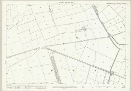 Lincolnshire LXXXVII.16 (includes: Digby; Rowston; Walcot Near Billinghay) - 25 Inch Map