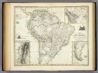 Karte von Sud-Amerika.