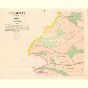 Hussinetz (Hussinec) - c2437-1-002 - Kaiserpflichtexemplar der Landkarten des stabilen Katasters