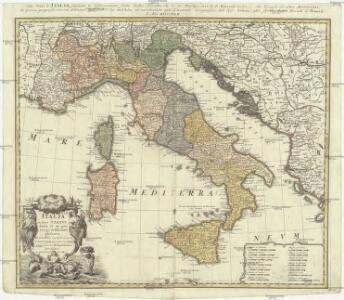 Italia in suos statvs divisa