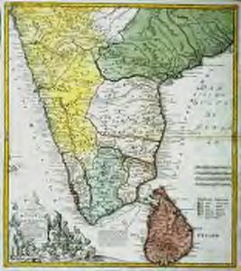 Peninsula Indiæ citra Gangem, hoc est, orae celeberrimae Malabar & Coromandel cum adjacente insula non minus celebratissima Ceylon