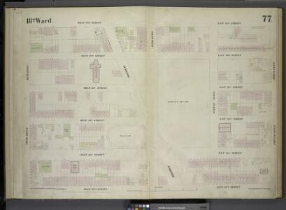 [Plate 77: Map bounded by West 27th Street, East 27th Street, Fourth Avenue, East 22nd Street, West 22nd Street, Sixth Avenue.]