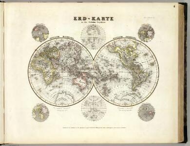 Welt-Karte, Globular-Proj.