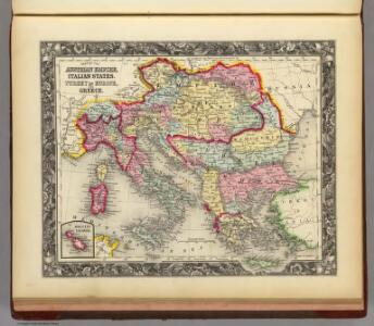 Map Of The Austrian Empire, Italian States. Turkey In Europe, And Greece.
