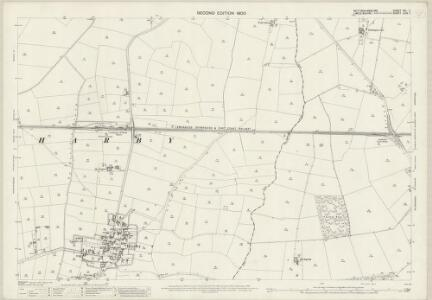 Nottinghamshire XXI.7 (includes: Doddington And Whisby; Harby; Thorney) - 25 Inch Map