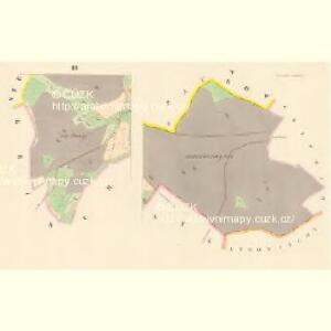 Tieschetin (Těssetin) - c7890-1-002 - Kaiserpflichtexemplar der Landkarten des stabilen Katasters