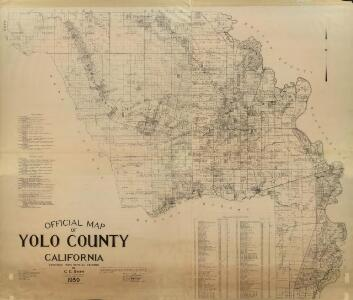 Official Map of Yolo County, California, 1939.