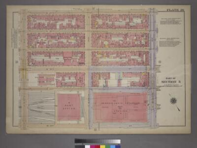 Plate 20, Part of Section 3: [Bounded by (W. 37th Street, Seventh Avenue, W. 31st Street and Ninth Avenue.]