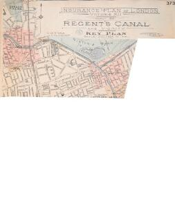 Insurance Plan of London Vol. xi Regent's Canal and Vicinity: Key Plan 1