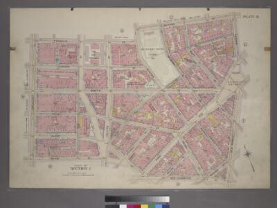 Plate 8, Part of Section 1: [Bounded by Franklin Street, Bayard Street, Bowery, Chatham Square, New Bowery, Madison Street, New Chambers Street, William Street, Duane Street, Reade Street and Broadway.]