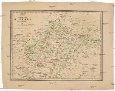 Karte der Markgrafschaft Maehren mit Schlesien