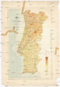 Carta hipsometrica de Portugal