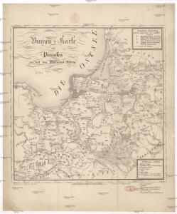 Burgen-Karte von Preussen zur Zeit Deutschen Ordens