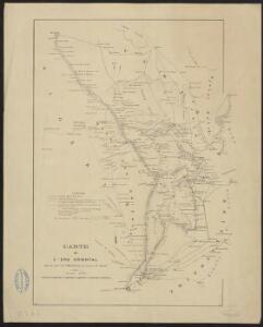 Carte de l'erg oriental, établie par le Lt Maîtrat, chef de l'Annexe d'El Oued