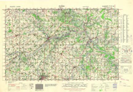France 1:50,000 , Series GSGS 4250, Falaise