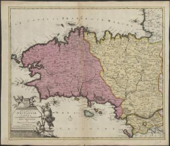 Ducatus Britanniae tabula cum omnibus suis provinciis nova descriptio