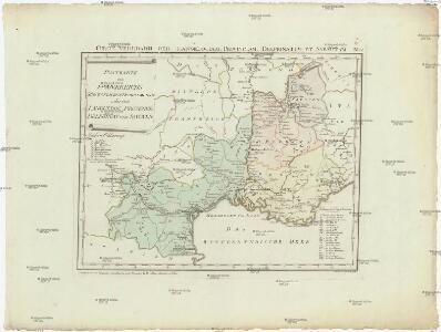 Postkarte von Frankreichs südoestlichen Departements oder von Languedoc, Provence, Delphinat und Savoyen