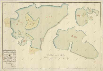 Geometrický plán rybníků Velký a Malý Tisý a Koclířov