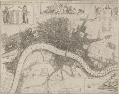 A Mapp of the Cityies of LONDON & WESTMINSTER & BURROUGH of SOUTHWARK with their Suburbs and the Addition of the New Buildings