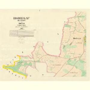 Hodiegau (Hoděgow) - c1921-1-001 - Kaiserpflichtexemplar der Landkarten des stabilen Katasters