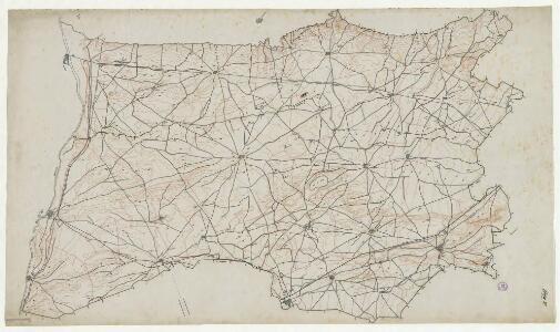 Manuscrit: Canal de Urgel: plano general : [plànol topogràfic del canal d'Urgell entre Albatàrrec, Balaguer, la Guàrdia i les Borges Blanques]