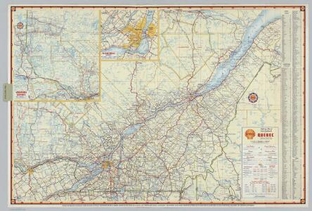 Shell Highway Map of Quebec.