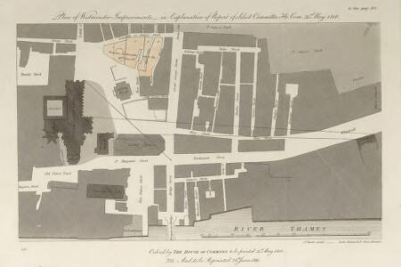 Plan of Westminster Improvements - in Explanation of Report of Select Committee Ho. Co. 31st May 1810