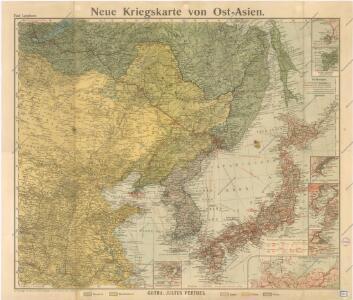 Neue Kriegskarte von Ost Asien
