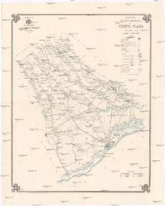 Harta cailor de comunicatie din Judetul Vlaşca
