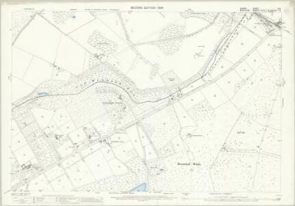 Surrey X.6 (includes: Chobham; Sunningdale; Windlesham) - 25 Inch Map