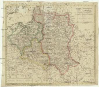 Mappa geographica Poloniae, in partes suas majores Austriac. Russic. et Borrusic