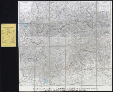 Spezielle Reise- und Gebirgs-Karte vom Lande Tyrol mit den angrenzenden Theilen von Süd-Bayern, Salzburg, der Schweiz, (Graubünden) und Ober-Italien