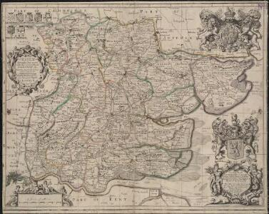 Essex actually surveyed with the several Roads from London &c. ...
