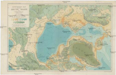 Bathymetric map of the Arctic basin
