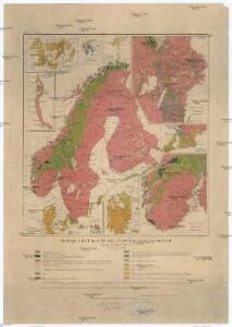 Geologisk kart over De skandinaviske lande og Finland