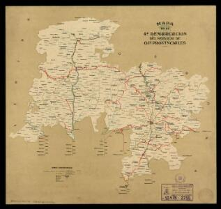 Mapa de la 4a demarcación del Servicio de O.P. Provinciales: junio de 1928 / [Diputación de Barcelona]
