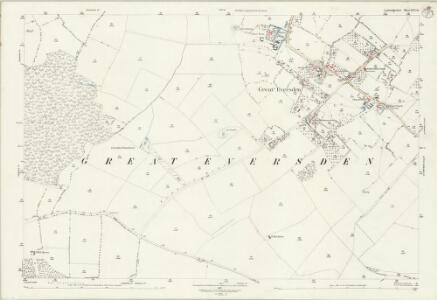 Cambridgeshire XLVI.14 (includes: Great Eversden; Kingston; Little Eversden; Orwell; Wimpole) - 25 Inch Map